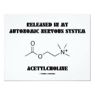 Acetilcolina autonómica lanzada del sistema invitación 10,8 x 13,9 cm
