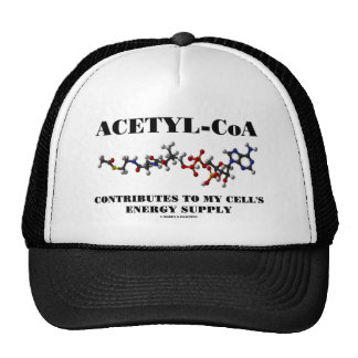 Acetyl-CoA Contributes To My Cell's Energy Supply Hats