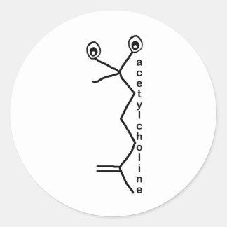 Acetylcholine Neurotransmitter Classic Round Sticker