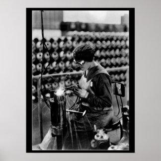 Acetylene welding on cylinder_War image Poster