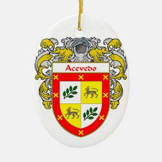 Acevedo Coat of Arms/Family Crest Christmas Ornaments