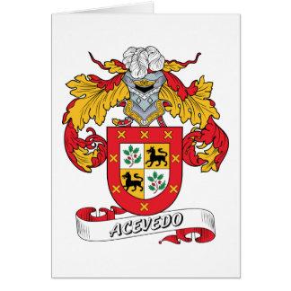 Acevedo Family Crest Card