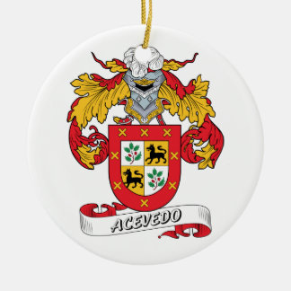 Acevedo Family Crest Christmas Tree Ornament