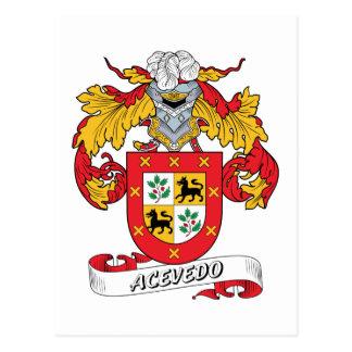 Acevedo Family Crest Postcard