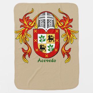 Acevedo Heraldic Shield and Mantling Swaddle Blanket