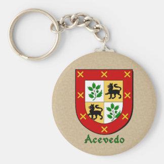 Acevedo Heraldic Shield Keychain