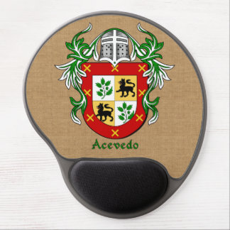 Acevedo Historical Arms and Mantle Burlap Style Gel Mouse Pad