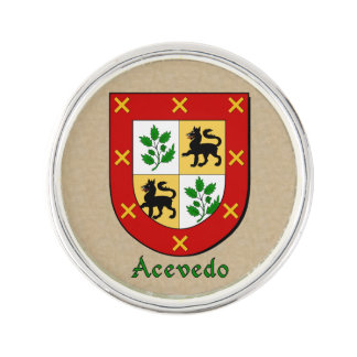 Acevedo Historical Arms on Parchment Style Pin