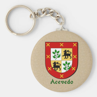 Acevedo Historical Shield Basic Round Button Keychain