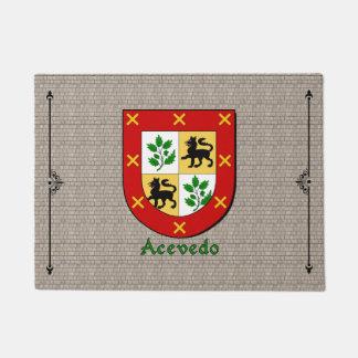 Acevedo Historical Shield on Cobblestone Doormat