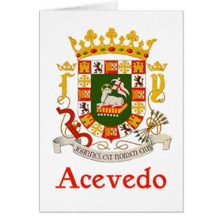 Acevedo Shield of Puerto Rico Card