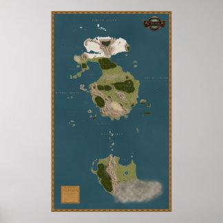 Achaean World Map Poster