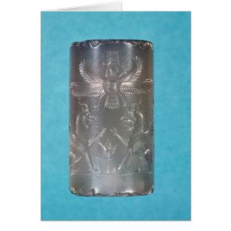 Achaemenid cylinder seal card