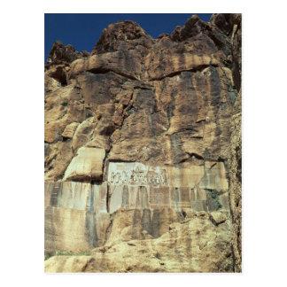 Achaemenid rock relief of King Darius I Postcard