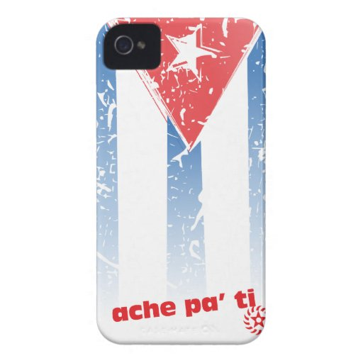 Ache Pa Ti con bandera cubana iPhone 4 Case