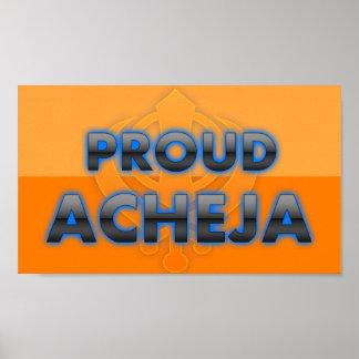 Acheja orgulloso orgullo de Acheja Poster
