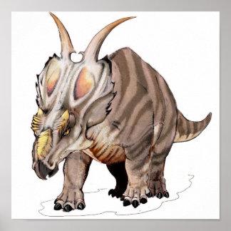 Achelousaurus - dinosaurio cretáceo póster