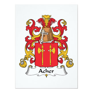 Acher Family Crest Card