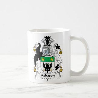 Acheson Family Crest Classic White Coffee Mug
