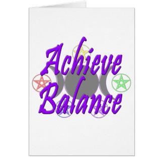 Achieve Balance Card