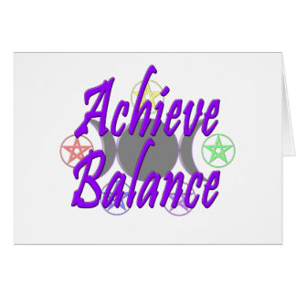 Achieve Balance Greeting Cards