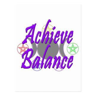 Achieve Balance Postcard