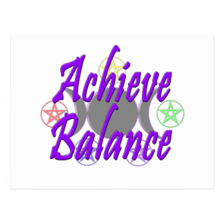 Achieve Balance Postcards