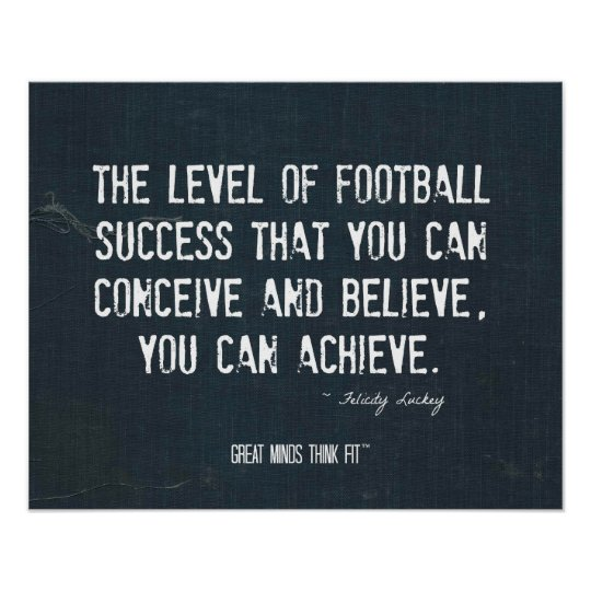 Achieve Football Success Poster in Denim