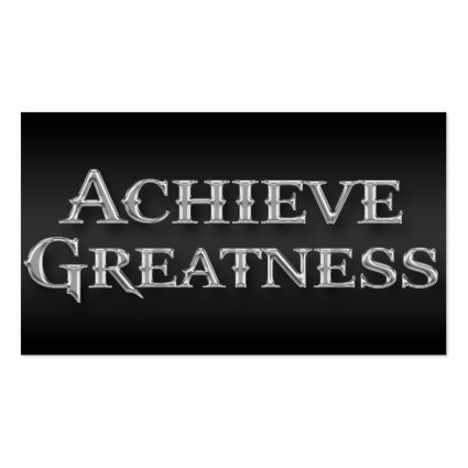 Achieve Greatness Professional Business Card