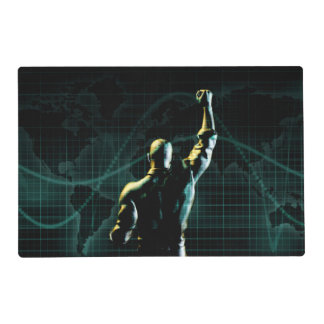 Achieve Success as a Symbolic Concept Background Laminated Placemat