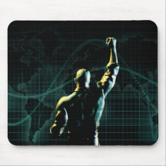 Achieve Success as a Symbolic Concept Background Mouse Pad