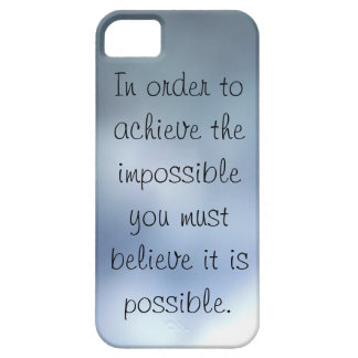 achieve the impossible blue grey iPhone 5 case