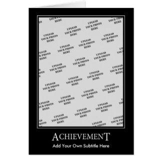 Achievement Card Motivational Template