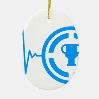 Achievement Heart Beat Ceramic Ornament