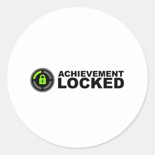 Achievement Locked Classic Round Sticker