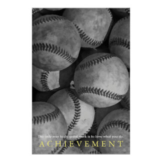 Achievement Motivational Baseball Poster