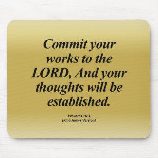 Achievement Proverbs 16:3 Abbrev Mouse Pad