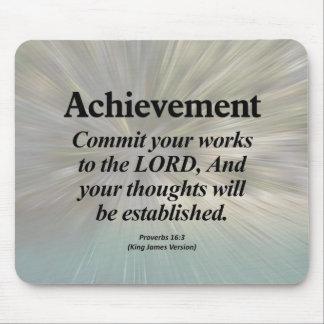 Achievement Proverbs 16:3 Mouse Pad