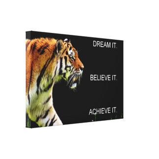 achievement success motivation inspiration canvas print