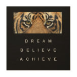 achievement success motivation inspiration wood wall art