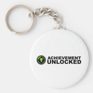 Achievement Unlocked Basic Round Button Keychain