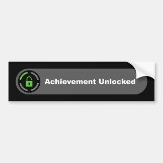 Achievement Unlocked Car Bumper Sticker
