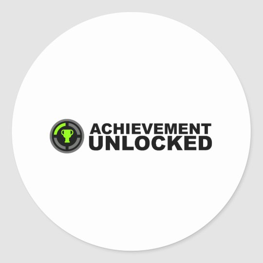 Achievement Unlocked Classic Round Sticker