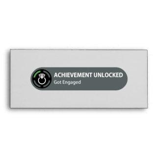 Achievement Unlocked - Got Engaged Envelopes