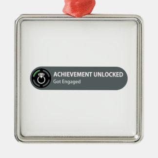 Achievement Unlocked - Got Engaged Metal Ornament