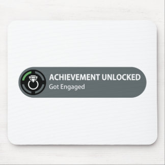Achievement Unlocked - Got Engaged Mouse Pad
