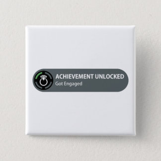 Achievement Unlocked - Got Engaged Pinback Button