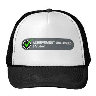 Achievement Unlocked I Voted Trucker Hat