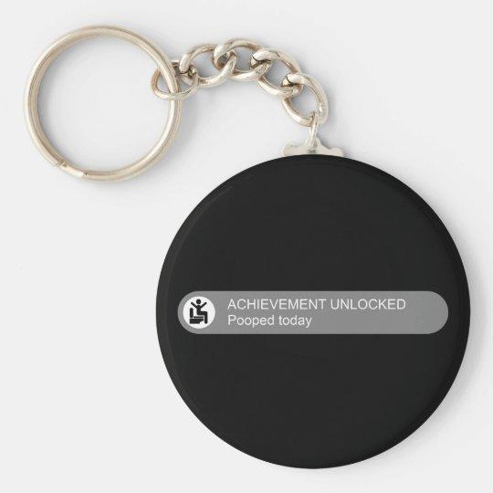Achievement Unlocked Pooped Today Keychain