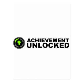 Achievement Unlocked Postcard
